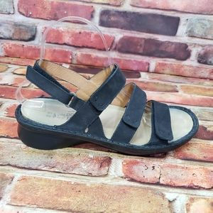 Naot Black Leather Sandals Size 9